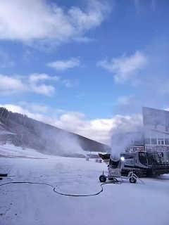 山东户外零度造雪设备 人工造雪机厂家造雪能力