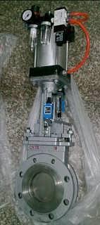 气动刀型插板阀、气动对夹式插板阀