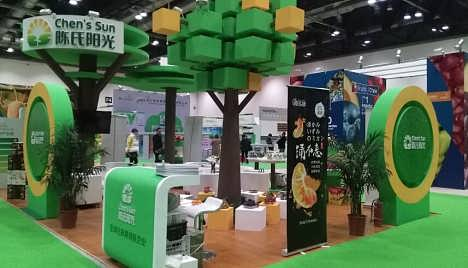 世界大健康博览会木结构特装展台设计搭建-武汉简艺尚展览服务有限公司