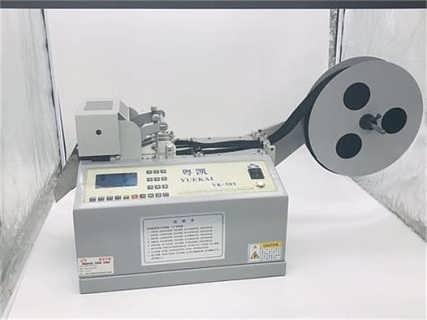 天津棉带剪断机 三色带裁切机 罗纹带热断机裁切稳定