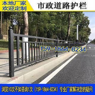 城市交通隔离栅护栏 珠海镀锌黑色人行道安全护栏 东莞市政栏杆