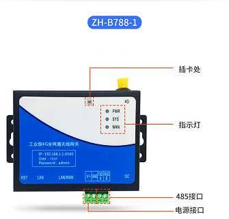 4g无线路由器模块工业通移动联通电信插卡wifi禾迅物联网ZH-B788-北京禾迅科技有限公司