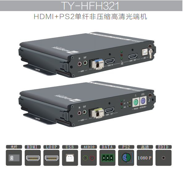 HFH321-KVM非压缩HDMI高清光端机-北京天翼讯通科技有限公司