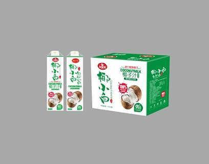 贵州餐饮装厂家椰子汁饮料1L8方瓶装招商加盟