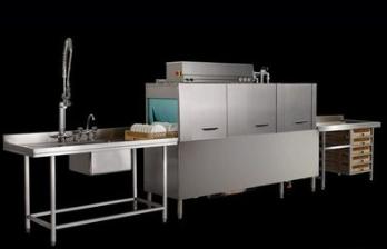 单缸单喷淋通道式洗碗机