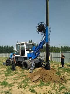 石家庄基础引孔挖坑打桩施工