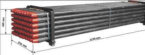 ZG型矿用探水钻杆外形尺寸及适用介质