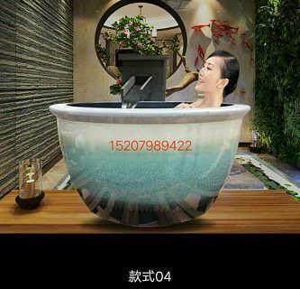 成人泡澡缸 酒店温泉一米大缸拿货价 定制中式陶瓷大缸厂家