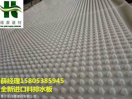 承德1mm厚10高全新料排水板地下室疏水板-泰安市绿泰建材有限公司.