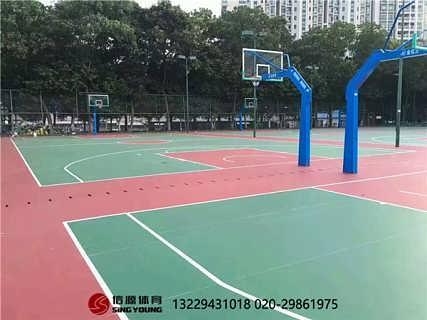 海南海口篮球场地面施工及球场材料厂家