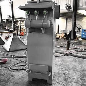 9袋脉冲除尘器橡胶厂室内抽屉灰斗除尘器-河北同帮环保科?#21152;?#38480;公司.