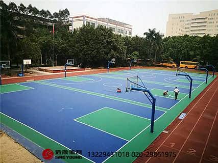 大理文山专业硅PU篮球场硅PU生产厂家-广州信源体育产业有限公司