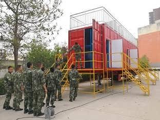 消防演习箱式网栅训练设施
