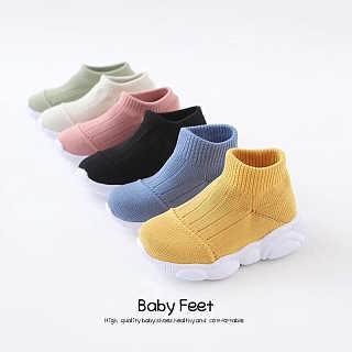 厂家直销2019新款防臭吸汗精梳棉,鱼丝TPE儿童专用针织鞋