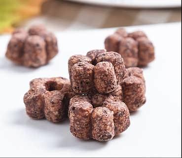 膨化五角星浓厚巧克力甜甜圈加工机器多形状零食膨化设备