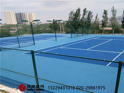 塑胶网球场施工建设及硅PU网球场材料厂家-广州信源体育产业有限公司