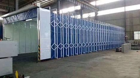 电动喷漆房伸缩房打磨房遮阳棚多功能移动喷漆房厂家直供