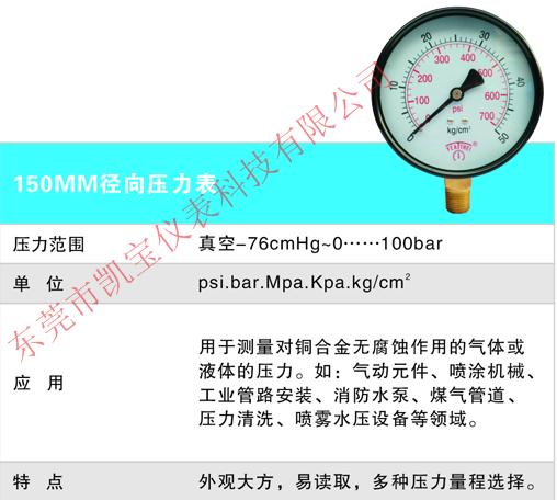 YEATHEI60MM100MM不锈钢冲油耐震真空负压气压表