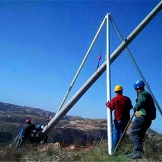 圆管铝合金材质立杆机立杆器三角立杆机