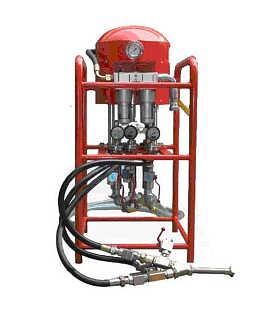 气动双液注浆泵工作原理ZBQS12/10注浆泵厂家直供