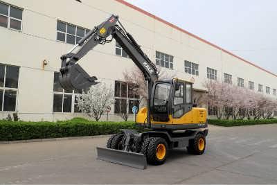 全自动式抓爪工程小型轮式挖掘机