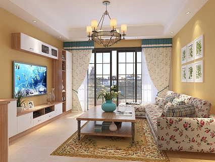 小客厅沙发摆放-长方形客厅装修图片-家居100