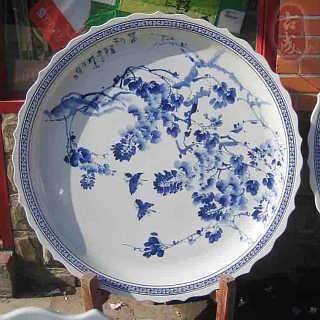 青花手绘陶瓷大瓷盘厂家