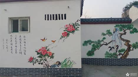 手绘墙美丽乡村墙绘