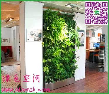 第二,分割组织空间和引导视线      用立面的植物墙,屏风式的植物墙