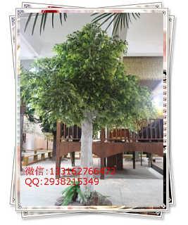 低价直销绢布仿真树叶仿真白桦叶 室外玻璃钢白桦树专用叶