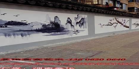 淮安厂房外墙彩绘施工