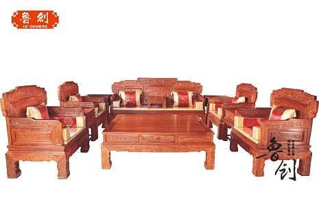 欧式红木沙发五件套 东阳欧式红木沙发五件套-钱眼