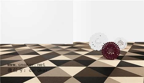 【有立体艺术感的编织地毯】有立体艺术感的编织地毯