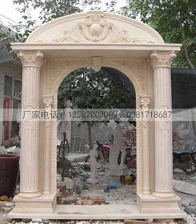 欧式石雕门套 精致雕花大理石雕门套