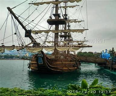 深圳大型装饰船/景观木船/儿童游乐设施海盗船/帆船