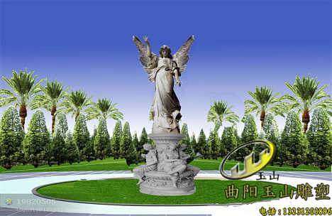 小区欧式马雕塑