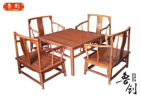草龙茶桌定做红木家具价格
