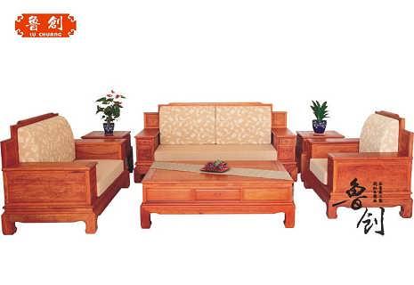 华高背博古沙发定做红木家具价格 缅甸花梨木家具价格 中国供应商