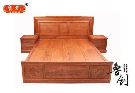 红木家具红木大床花梨木床1.5 1.8米双人床辉煌大床实木大床婚床