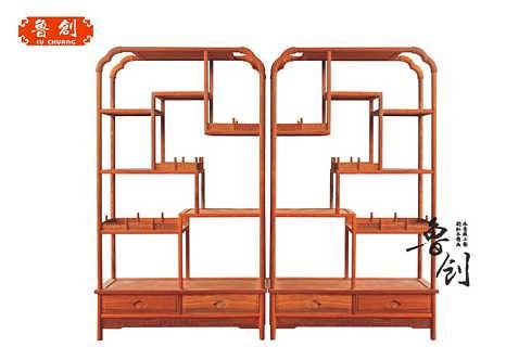 博古架中式实木仿古多宝阁明清古典榆木展示柜古董架