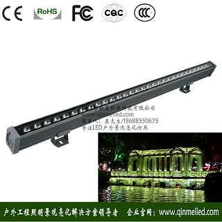 供应dc24v28w3000k大功率led线型洗墙灯