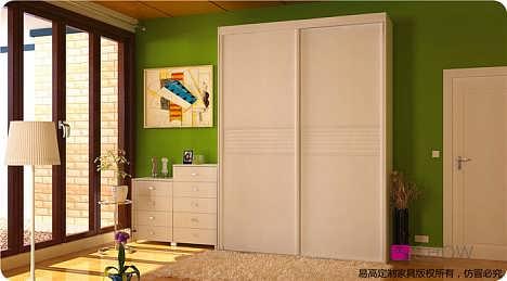 卧室田园风格衣柜移门--易高全屋定制