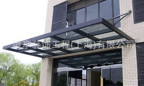 上海专业制作钢结构玻璃雨棚露台棚,酒店餐厅商场办公