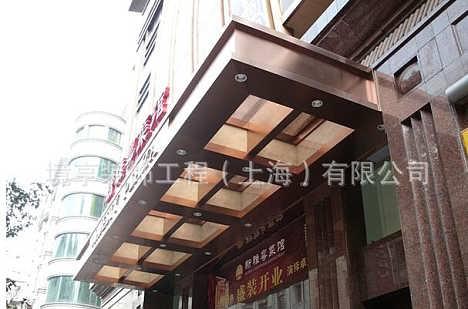 上海大型钢结构玻璃雨棚/精美欧式玻璃雨蓬