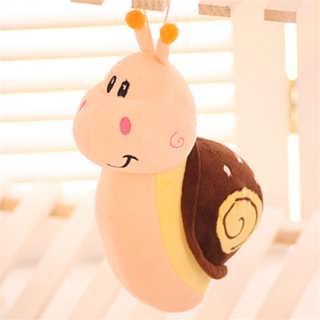 可爱彩色毛绒玩具蜗牛汽车摆饰娃娃公仔