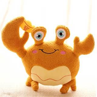动物毛绒玩具螃蟹布艺娃娃汽车摆饰