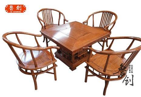 福禄寿茶桌/非洲花梨木/花梨木家具/东阳红木家具