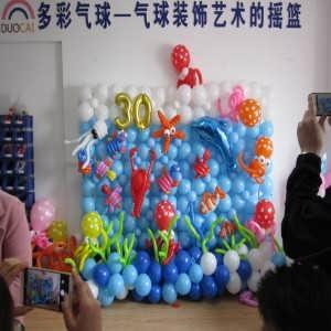 南京长气球手拿棒制作过程