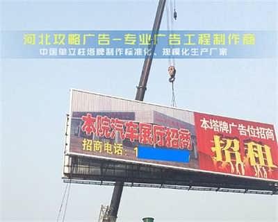 攻略广告河北广告塔牌户外广告塔牌设计