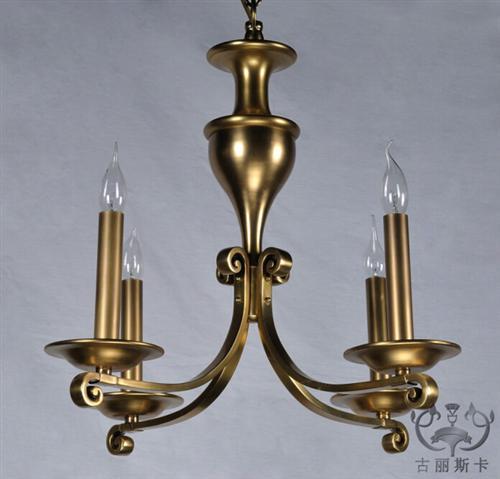 美式乡村全铜吊灯定制台州全铜吊灯古丽斯卡多图图片